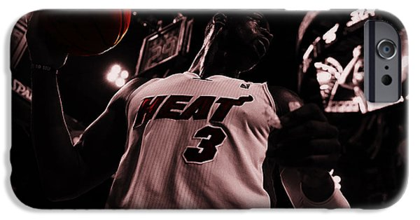 Dwyane Wade iPhone Cases - Dwyane Wade Ready to Go iPhone Case by Brian Reaves