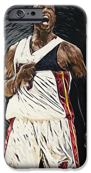 All Star Game iPhone Cases - Dwyane Wade iPhone Case by Taylan Soyturk