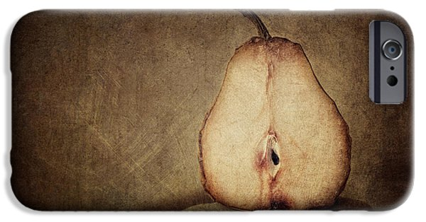 Pear iPhone Cases - Dying Inside iPhone Case by Amy Weiss
