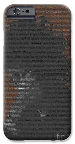 James Johnson iPhone Cases - Dylan mosaic iPhone Case by James Johnson