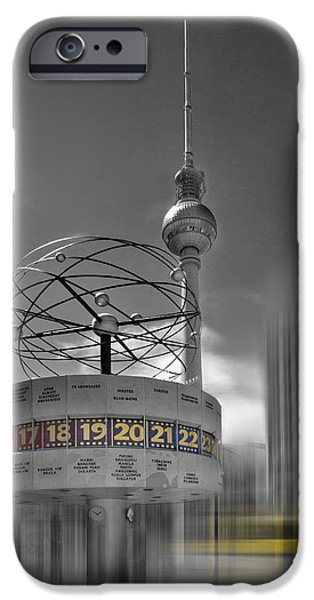 Berlin iPhone Cases - Dynamic-Art BERLIN City-Centre iPhone Case by Melanie Viola