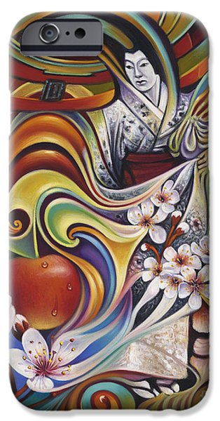 Cherry Blossoms iPhone Cases - Dynamic Blossoms iPhone Case by Ricardo Chavez-Mendez