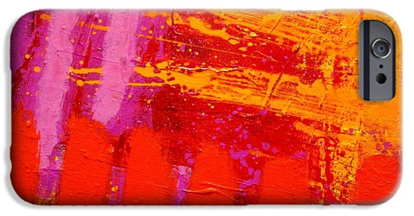 Abstract Expressionism iPhone Cases - Dynamic Colour iPhone Case by John  Nolan
