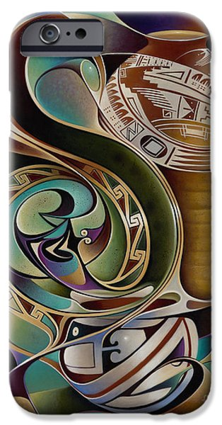 Pottery Paintings iPhone Cases - Dynamic Still I iPhone Case by Ricardo Chavez-Mendez