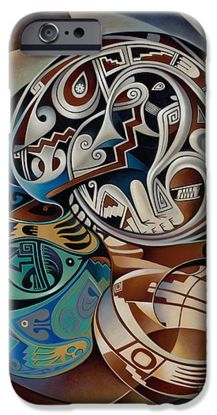 Pottery Paintings iPhone Cases - Dynamic Still Il iPhone Case by Ricardo Chavez-Mendez