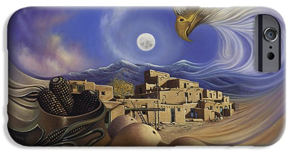 Pueblo iPhone Cases - Dynamic Taos Ill iPhone Case by Ricardo Chavez-Mendez