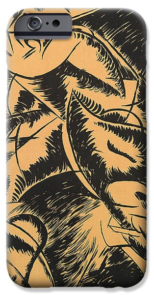 Dynamism iPhone Cases - Dynamism of a human body iPhone Case by Umberto Boccioni