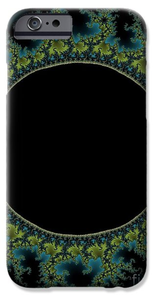 Solar Eclipse Digital iPhone Cases - E C L I P S E iPhone Case by Charles Dobbs
