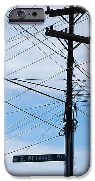 E WT Harris Blvd - Charlotte iPhone Case by Paulette B Wright
