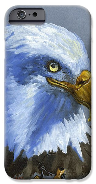 Recently Sold -  - Birds iPhone Cases - Eagle Patrol iPhone Case by Jeff Brimley