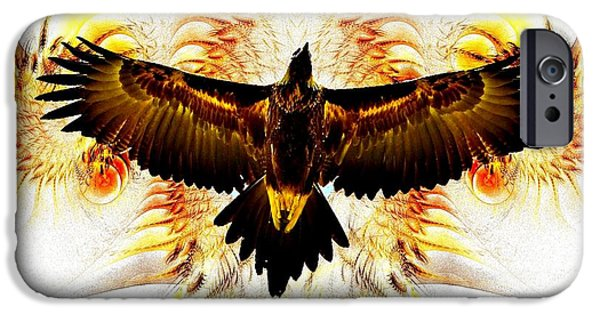 Birds iPhone Cases - Eagle Soul  iPhone Case by Enjargo  Art