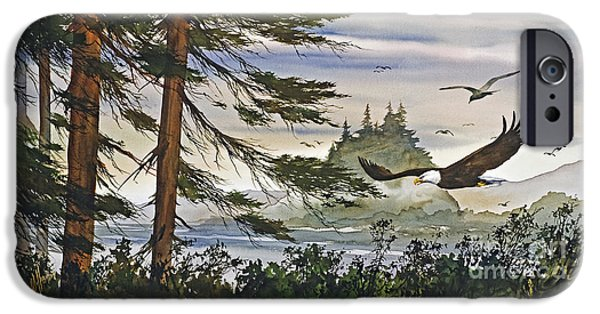 American Eagle Paintings iPhone Cases - Eagles Majestic Flight iPhone Case by James Williamson
