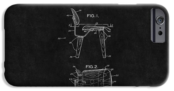 Eames iPhone Cases - Eames Chair Patent 2 iPhone Case by Andrew Fare
