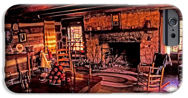 Cabin Interiors iPhone Cases - Early American Livingroom iPhone Case by Paul W Faust -  Impressions of Light