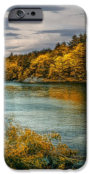 Early Autumn Along the Androscoggin River iPhone Case by Bob Orsillo