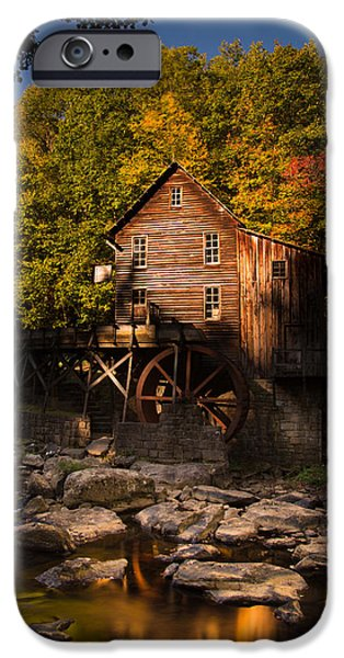 Grist Mill iPhone Cases - Early Autumn at Glade Creek Grist Mill iPhone Case by Shane Holsclaw