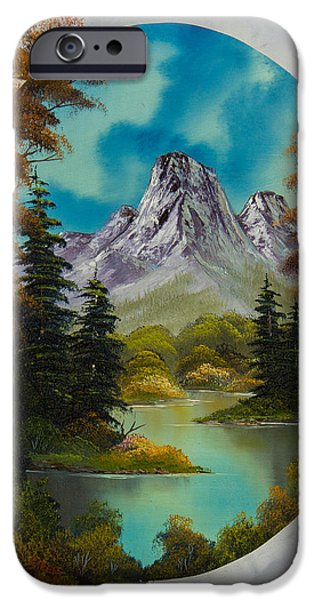 Bob Ross Paintings iPhone Cases - Russet Autumn  iPhone Case by C Steele