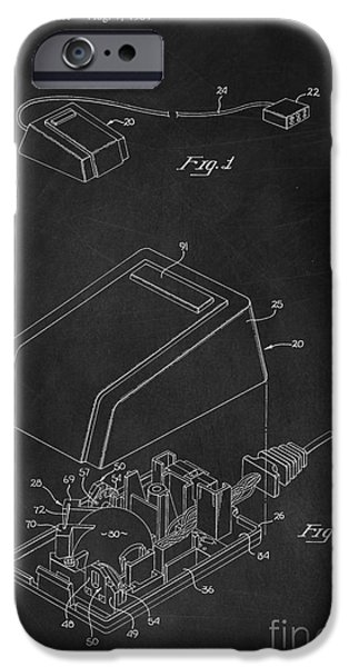 Computing iPhone Cases - Early Computer Mouse Patent 1984 iPhone Case by Edward Fielding