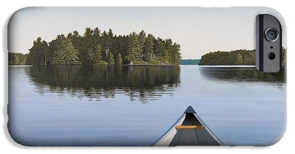 Water iPhone Cases - Early Evening Paddle  iPhone Case by Kenneth M  Kirsch