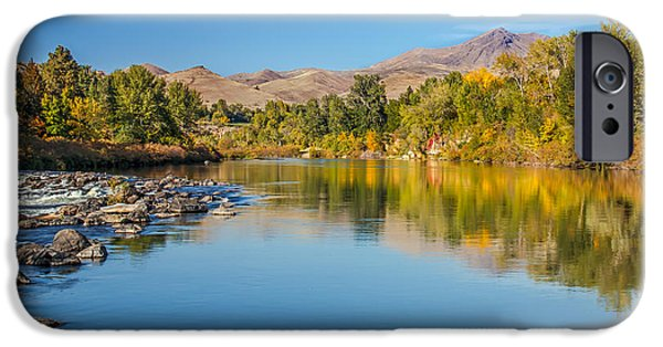 Silk Water iPhone Cases - Early Fall On The Payette iPhone Case by Robert Bales