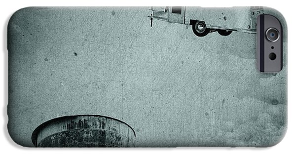 Flight iPhone Cases - Early Historic Airstream Flight iPhone Case by Edward Fielding