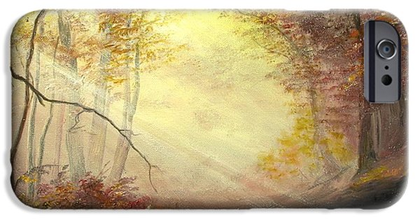 Autumn iPhone Cases - Early in The Morning iPhone Case by Sorin Apostolescu