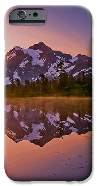 Early Morning at Picture Lake iPhone Case by Darren  White