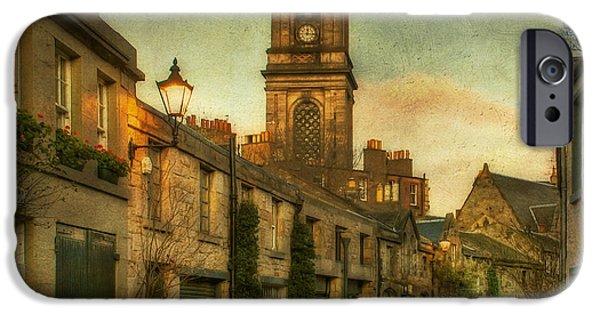 Lois Bryan Digital iPhone Cases - Early Morning Edinburgh iPhone Case by Lois Bryan