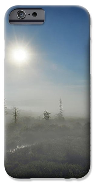 Early morning fog at Canaan Valley iPhone Case by Dan Friend