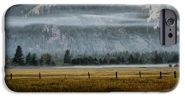 Wall Greeting Cards Digital iPhone Cases - Early Morning Fog iPhone Case by Ellen Heaverlo