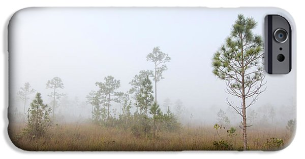 Slash iPhone Cases - Early morning fog Landscape-1 iPhone Case by Rudy Umans