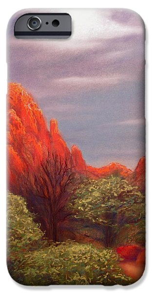 Sedona Pastels iPhone Cases - Early Morning in Sedona iPhone Case by Lynn Morgan -                            L L Morgan Art