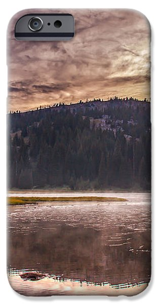 Early Morning Lake Light iPhone Case by Robert Bales