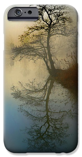 Abstract Digital Pyrography iPhone Cases - Early Morning iPhone Case by manhART