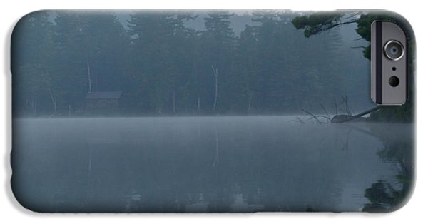 Fog Mist iPhone Cases - Early morning on the lake 5 iPhone Case by Vance Bell