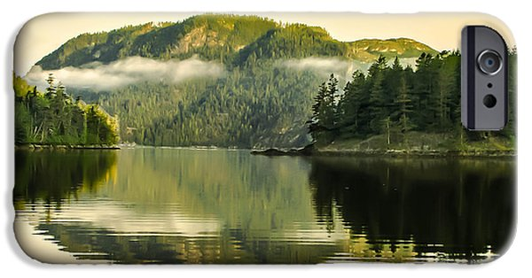 East Cracoft Island iPhone Cases - Early Morning Reflections iPhone Case by Robert Bales