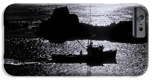 Quoddy Head State Park iPhone Cases - Early Morning Silhouette at Sail Rock Narrows iPhone Case by Marty Saccone