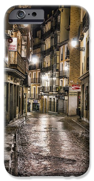 Antiques iPhone Cases - Early Morning Toledo iPhone Case by Joan Carroll