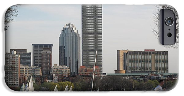 Charles River iPhone Cases - Early Spring Along the Charles iPhone Case by Barbara McDevitt