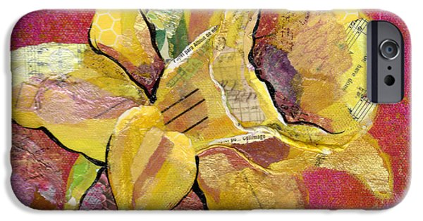 Floral Mixed Media iPhone Cases - Early Spring I Daffodil Series iPhone Case by Shadia Zayed