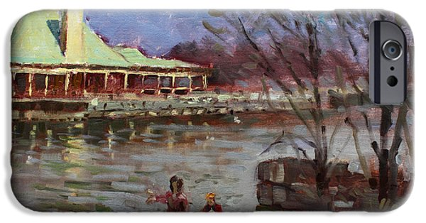 People iPhone Cases - Early Spring in Portcredit Mississauga iPhone Case by Ylli Haruni