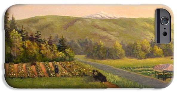 Ledge iPhone Cases - Early Summer Morning iPhone Case by Sharon E Allen