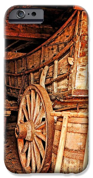 Nineteenth iPhone Cases - Early Transportation West iPhone Case by Marcia Lee Jones