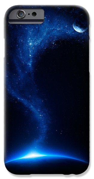Earth and moon interconnected iPhone Case by Johan Swanepoel