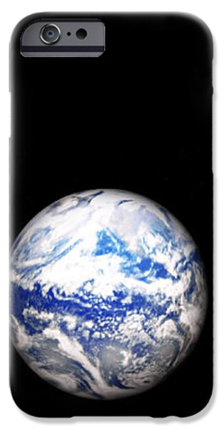 Earth and phases of the Moon iPhone Case by Bob Orsillo