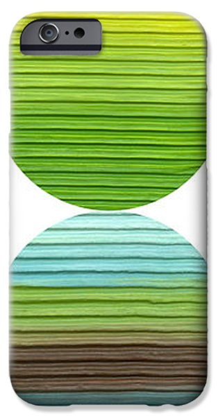 Abstract Seascape iPhone Cases - Earth and Sky iPhone Case by Michelle Calkins