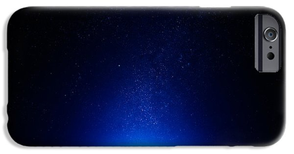 Starfield iPhone Cases - Earth at night with city lights iPhone Case by Johan Swanepoel