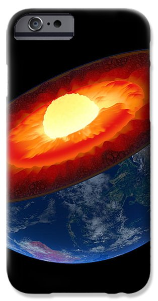 Earth core structure to scale - isolated iPhone Case by Johan Swanepoel