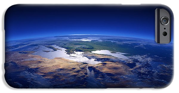 View Digital Art iPhone Cases - Earth - Mediterranean Countries iPhone Case by Johan Swanepoel