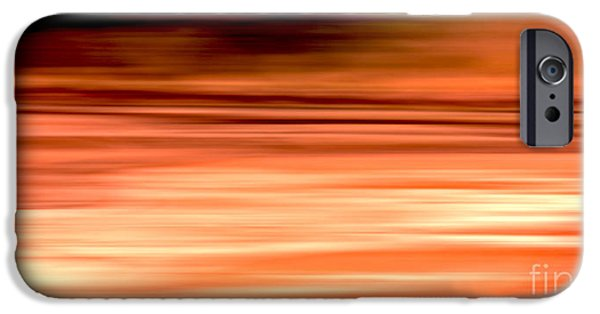 Electronic iPhone Cases - Abstract Earth motion burnt orange iPhone Case by Linsey Williams